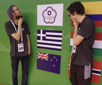 Brad & Nikwith flags.jpg