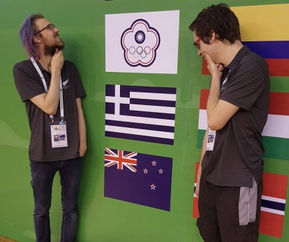 Brad & Nikwith flags.jpg